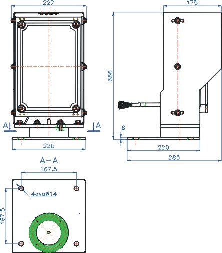 Layout and dimensions of the Pange Lantern E855